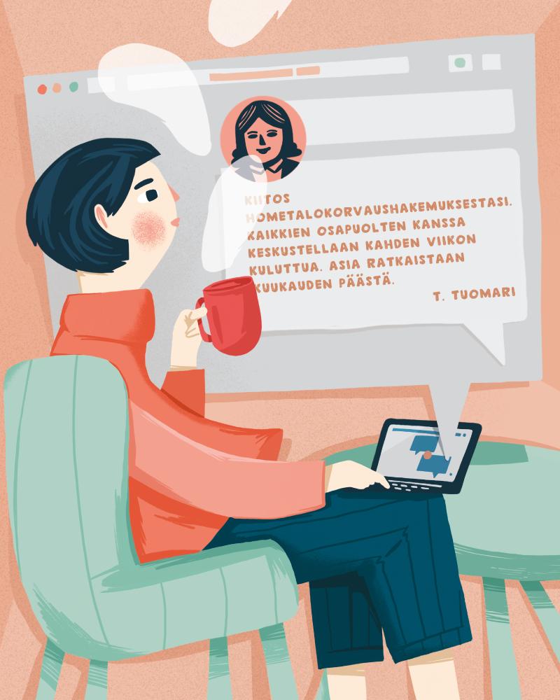Editorial Illustration for Advokaatti magazine
