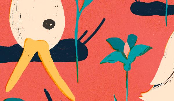 Duck-eating-slug-alien-species-illustration-by-vesa-matti-juutilainen